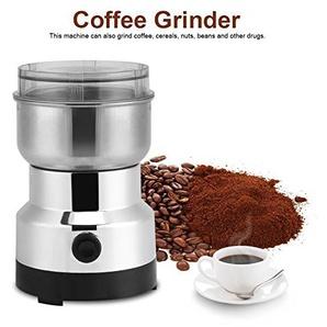 Cocoarm 220 V Elektrische Kaffeemühle aus Edelstahl Coffee Grinder Kaffeepulver Schonend Mahlen für Kaffee Bohnen Gewürze Nüsse Gewürze Kräuter Pfeffer und vieles mehr