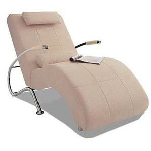 COLLECTION AB Relaxliege, in elegantem Design, frei im Raum stellbar B/H/T: 66 cm x 96 165 cm, Microfaser PRIMABELLE®, Ohne Kippfunktion beige Relaxliege Relaxliegen Sessel