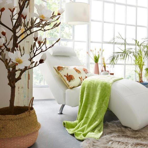 COLLECTION AB Relaxliege, in elegantem Design, wahlweise mit Kippfunktion, frei im Raum stellbar B/H/T: 66 cm x 96 165 cm, Kunstleder SOFTLUX®, Ohne Kippfunktion weiß Relaxliegen Sessel Relaxliege