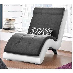 COLLECTION AB Relaxliege, inklusive Nierenkissen in Zebra-Dessin, Korpus in hochwertigem Kunstleder SOFTLUX®