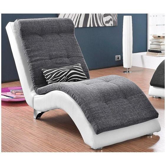 COLLECTION AB Relaxliege Kunstleder SOFTLUX® / Struktur, 66 cm grau Relaxliegen Sessel Sofas