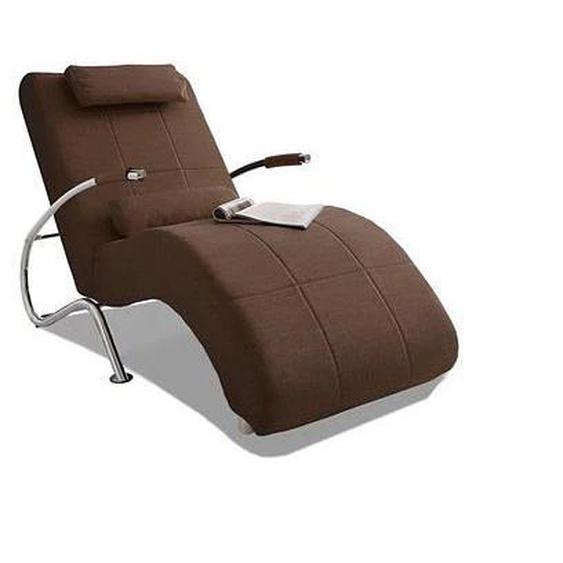 COLLECTION AB Relaxliege, in elegantem Design, wahlweise mit Kippfunktion, frei im Raum stellbar B/H/T: 78 cm x 96 180 cm, Microfaser PRIMABELLE®, Mit Kippfunktion braun Relaxliegen Sessel Relaxliege