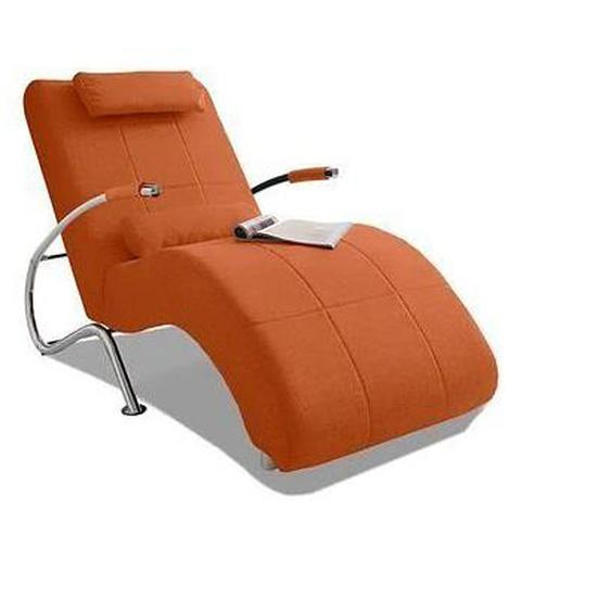 COLLECTION AB Relaxliege Microfaser PRIMABELLE®, 78 cm, Mit Kippfunktion orange Relaxliegen Sessel Sofas