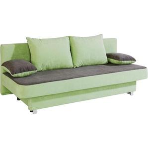 Collection Ab Schlafsofa, inkl. Bettkasten, grün