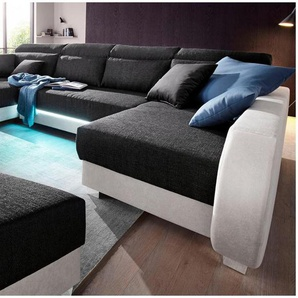 COLLECTION AB Wohnlandschaft, inklusive LED-Beleuchtung, wahlweise mit Audio-Bluetooth/USB
