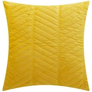 como Kissen  Charly - gelb - 100% Polyesterfüllung, Samt - 45 cm | Möbel Kraft