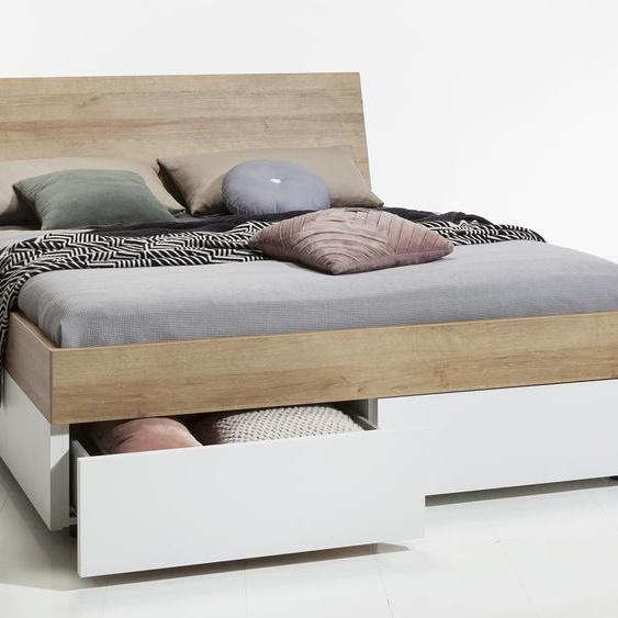 Composad Futonbett, Weiß / Matt, Kunststoff
