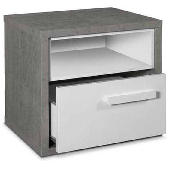 Composad Nachttisch, Grau, Kunststoff