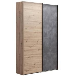 Composad Schwebetürenschrank, Eiche, Holz