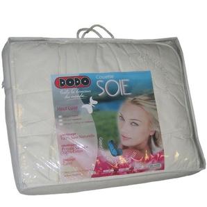 Comptoir du Linge CSoieL200 Bettbezug Natur aus Seide, leicht, 200 x 200 cm, Weiß