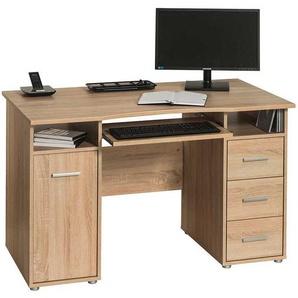Computer Schreibtisch 120 cm breit Sonoma-Eiche