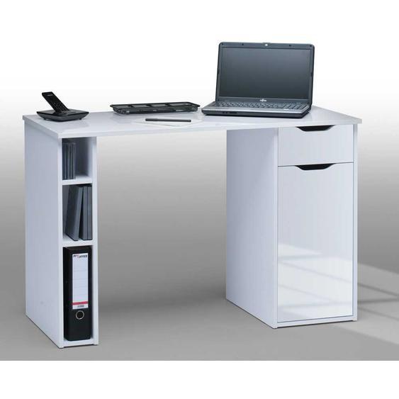 Computer-Schreibtisch in Hochglanz Weiß Melaminharzbeschichtung