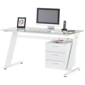 Computertisch Wesenitz ¦ Weiß ¦ Maße (cm): B: 140 H: 75,5 T: 70 Tische  Computertische » Höffner