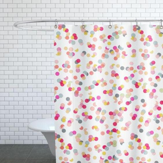 Confetti Mix Pink-Duschvorhang