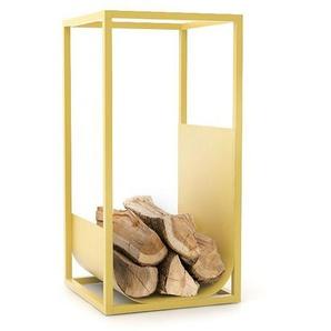 Conmoto - CUBE Brennholzregal - gelb - outdoor