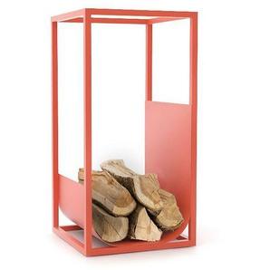 Conmoto - CUBE Brennholzregal - rot - outdoor