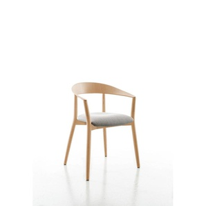 Conmoto - MITO Armlehnenstuhl  - Polster hellgrau - Eiche natur - indoor