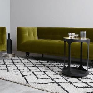 Connor 3-Sitzer Sofa, Samt in Olivgruen