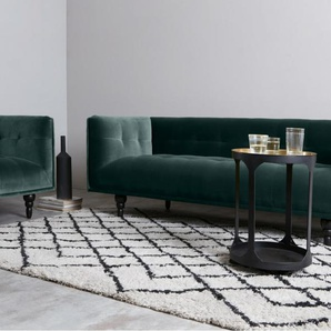 Connor 3-Sitzer Sofa, Samt in Petrolgruen