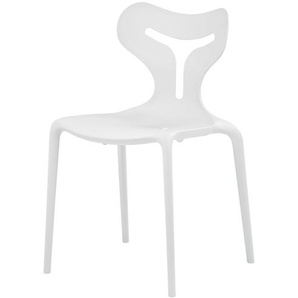 connubia calligaris Stuhl  Area51 ¦ weiß ¦ Maße (cm): B: 50,5 H: 80 T: 50 Stühle  Esszimmerstühle  Esszimmerstühle ohne Armlehnen » Höffner