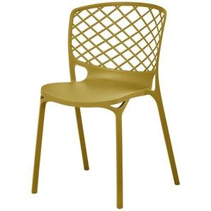 connubia calligaris Stuhl  Gamera ¦ gelb ¦ Maße (cm): B: 53 H: 82 T: 53 Stühle  Esszimmerstühle  Esszimmerstühle ohne Armlehnen » Höffner