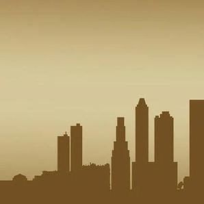 Consalnet Fototapete New York - Horizont, für Küchenrückwand B/L: 2,5 m x 0,6 braun Fototapeten Tapeten Bauen Renovieren