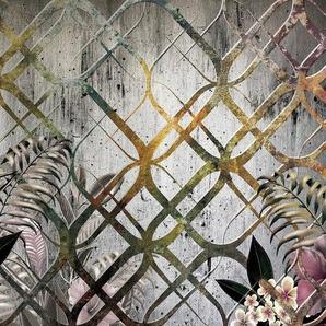 Consalnet Papiertapete »Goldenes Motiv/Blumen«, floral