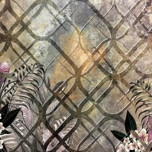 Consalnet Vliestapete »Goldenes Muster/Blumen«, floral