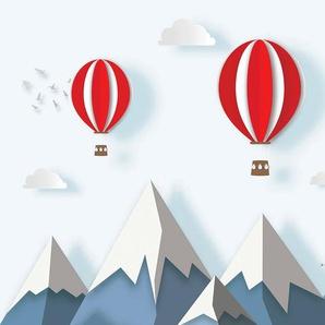 Consalnet Vliestapete Kindermotiv Ballon, Comic B/L: 1,04 m x 0,7 weiß Vliestapeten Tapeten Bauen Renovieren