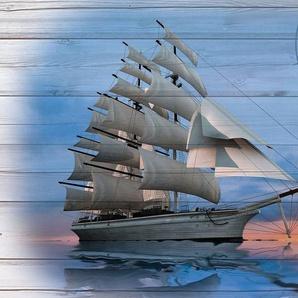 Consalnet Vliestapete »Schiff auf dem Bretter«, verschiedene Motivgrößen, für das Büro oder Wohnzimmer