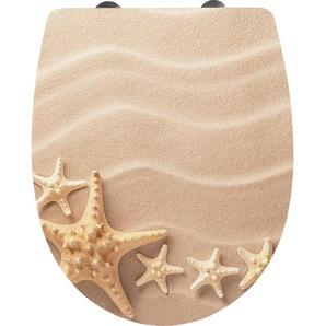 Cornat Thermoplast WC Sitz Sand, 3D-Dekor