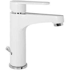 CORNAT Waschtischarmatur »NAVIA«, Wasserhahn chrom-weiß