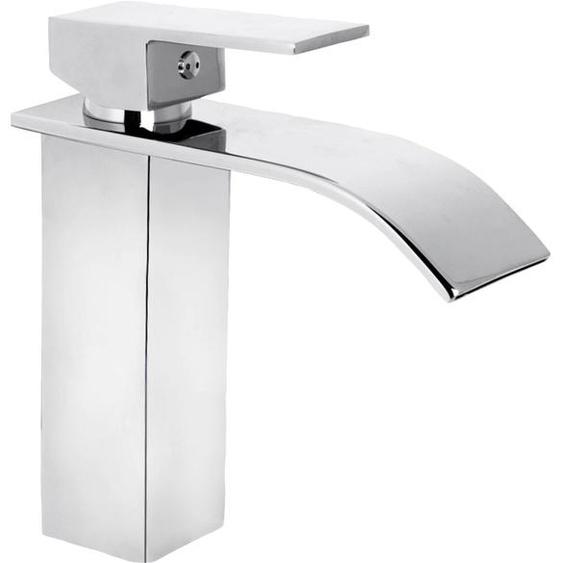 CORNAT Waschtischarmatur WT EHM Wasserfall chrom, Schwall-Auslauf B/H/T: 21 cm x 8,5 silberfarben Waschtischarmaturen Badarmaturen Bad Sanitär