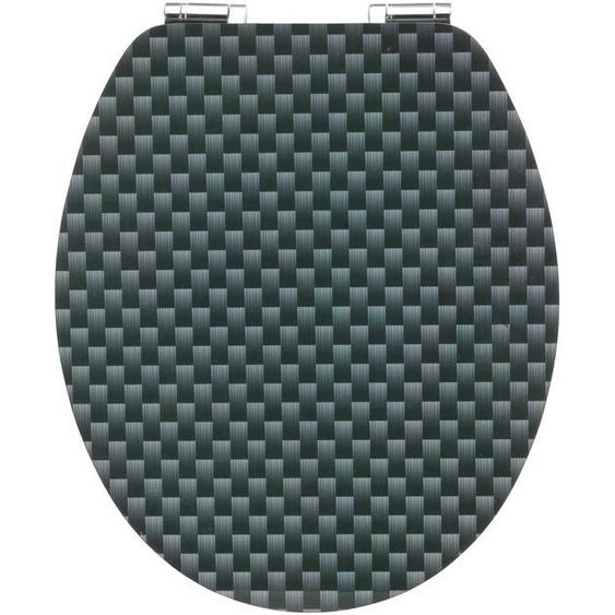 CORNAT WC-Sitz Carbon, Mit Absenkautomatik Einheitsgröße schwarz WC-Sitze WC Bad Sanitär