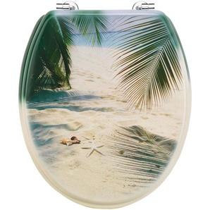 Cornat WC-Sitz Palmen am Strand, lackiert