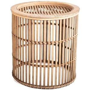 Cosy Home Ideas Beistelltisch »Beistelltisch rund Bambus Geflecht natur« (1 Stück, 1 Stück Beistelltisch), komplett aus Bambus gefertigt
