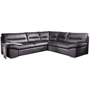Cotta Ecksofa Howard 2-Sitzer Schwarz Kunstleder 290x87x254 cm (BxHxT) mit Schlaffunktion Modern