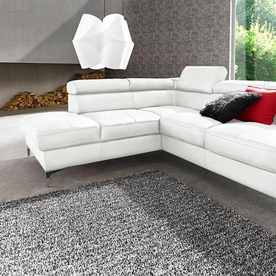 Ecksofa, mit Bettfunktion, FSC®-zertifiziert, weiß, Material Holzwerkstoff, mit Schlaffunktion, mit Kopfstütze