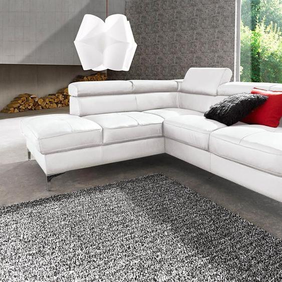 COTTA Ecksofa, mit Bettfunktion, FSC®-zertifiziert, weiß, Material Holzwerkstoff, mit Schlaffunktion, mit Kopfstütze