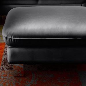 COTTA Hocker 0, NaturLEDER® schwarz Polsterhocker Nachhaltige Möbel