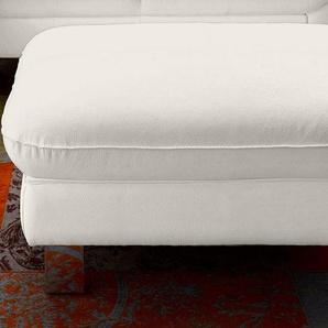 COTTA Hocker 0, NaturLEDER® weiß Polsterhocker Sessel und Sofas Couches