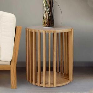 Couch Beistelltisch mit Eiche furniert Skandi Design