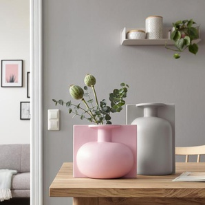 COUCH♥ Dekovase Lip, COUCH Lieblingsstücke B/H/T: 19,5 cm x 17,5 17 rosa Blumenvasen Pflanzgefäße Wohnaccessoires