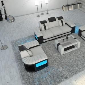Couch Garnitur Bellagio mit 3 sitzer, 2 Sitzer Sofas und Sessel