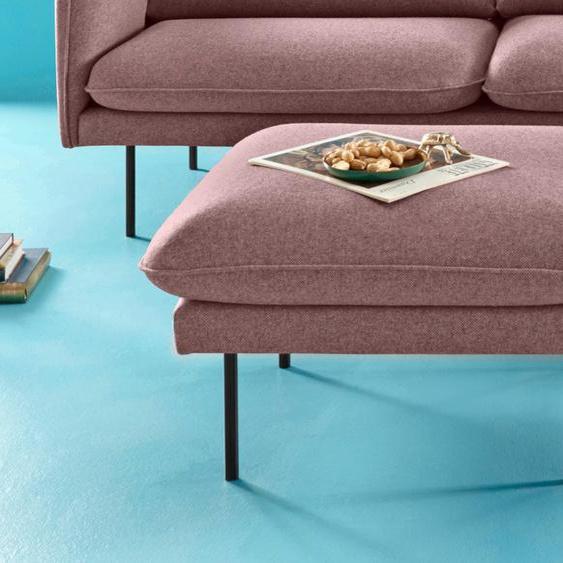 COUCH♥ Hocker Levon Struktur rot Polsterhocker Nachhaltige Möbel