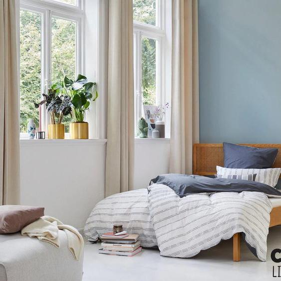 COUCH♥ Holzbett Feines Geflecht, Wiener Geflecht im Kopfteil Liegefläche B/L: 160 cm x 200 cm, Gewicht beige Massivholzbetten Betten