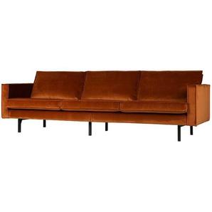 Couch in Rostfarben Samtbezug