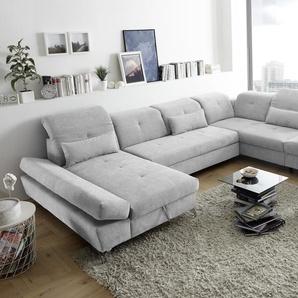 Couch MELFI R Sofa Schlafcouch Wohnlandschaft Bettsofa Schlaffunktion U-Form
