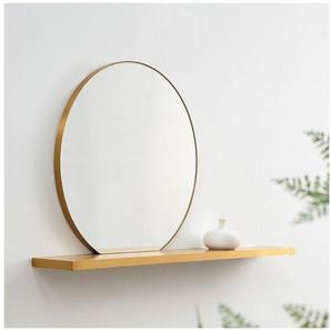 COUCH♥ Spiegel »Runde Reflektion«, Spiegel mit Wandregal, COUCH Lieblingsstücke