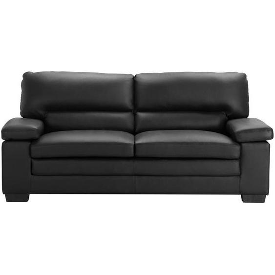Couchgarnitur Leder 3+1 MIMAS - Büffelleder - Schwarz